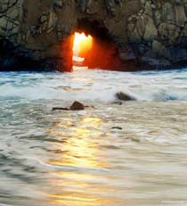 Vivid Care; opening in rots Pfeiffer beach